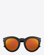bold sl 102 sunglasses in shiny black acetate with gold mirrored lenses