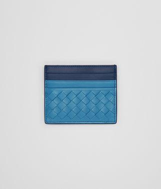 孔雀绿编织小羊皮卡片夹