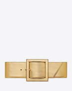 carrée saint laurent buckle corset belt in gold metallic leather
