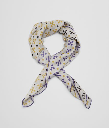 SCARF IN GRAPHITE LIGHT PURPLE CASHMERE SILK