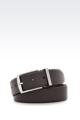 Armani Leather belts Men adjustable belt in calfskin