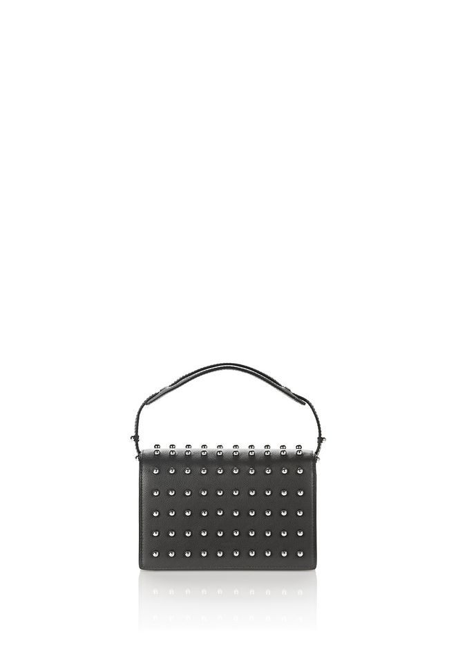 ALEXANDER WANG new-arrivals-bags-woman PRISMA BIKER PURSE IN BLACK WITH BALL STUDS