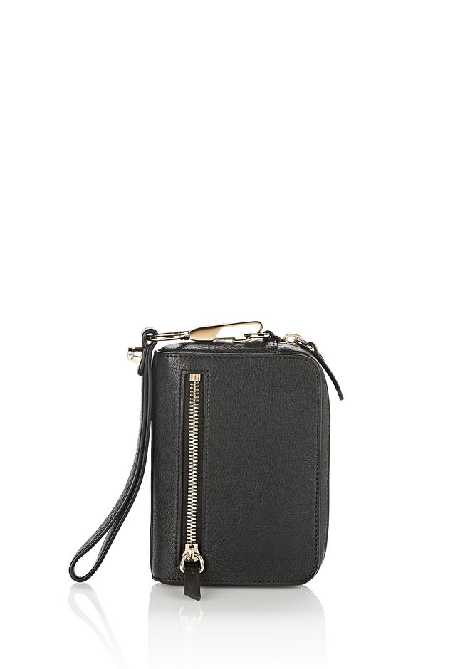 ALEXANDER WANG Wallets Women LARGE FUMO IN PEBBLED BLACK WITH PALE GOLD