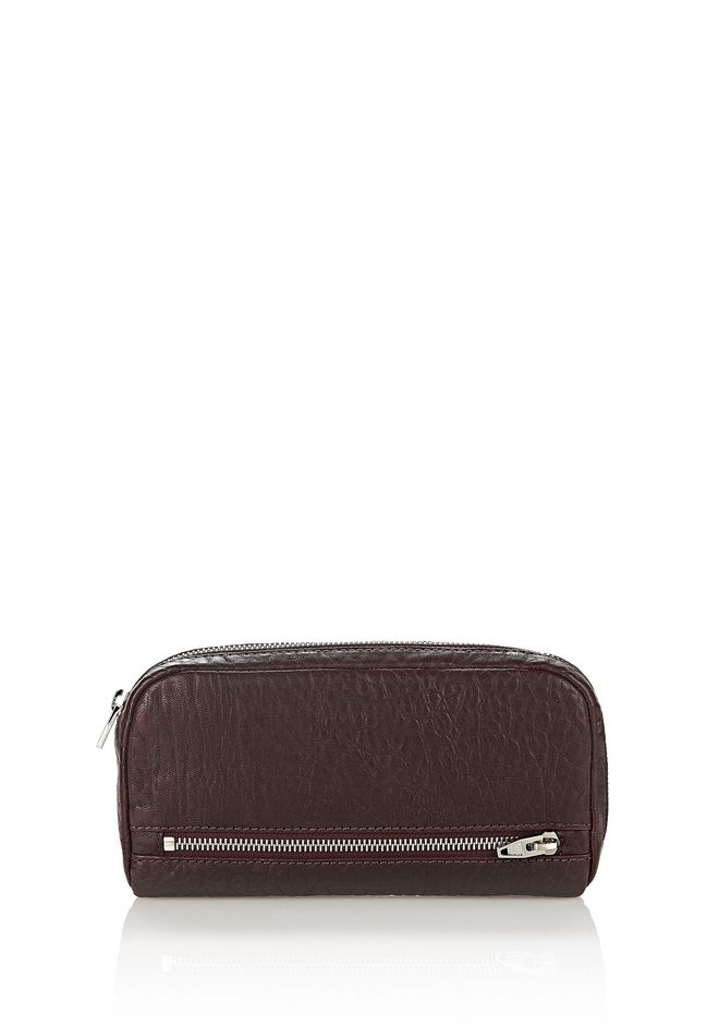 ALEXANDER WANG Wallets Women FUMO CONTINENTAL WALLET IN PEBBLED BEET WITH RHODIUM