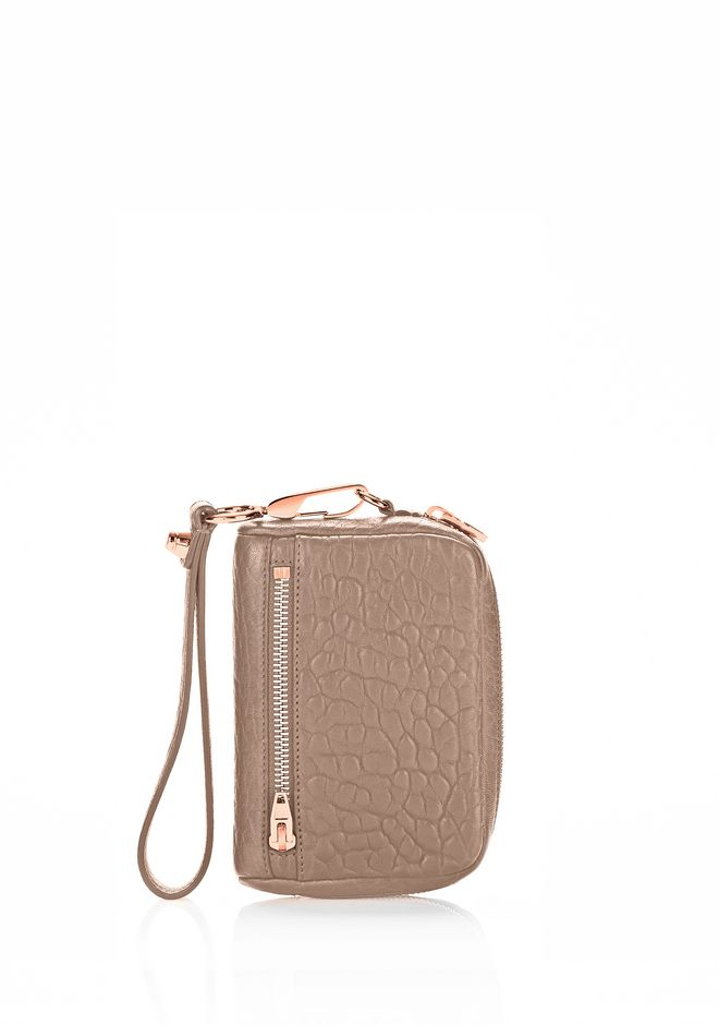 ALEXANDER WANG Wallets Women LARGE FUMO IN PEBBLED LATTE WITH ROSE GOLD
