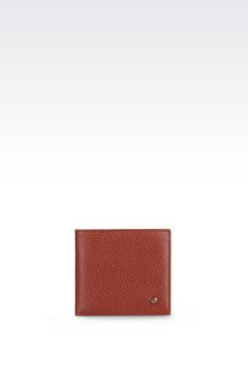 Armani Wallets Men bi-fold wallet in printed calfskin