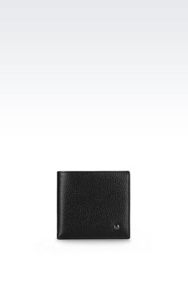 Armani Wallets Men bi-fold wallet in printed calfskin