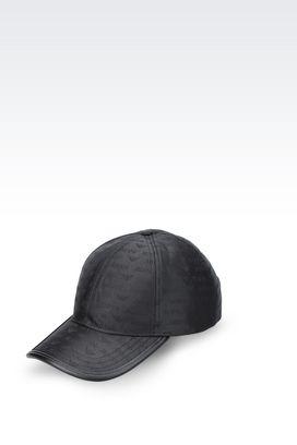 Armani Hats with visor Men baseball cap in logoed fabric