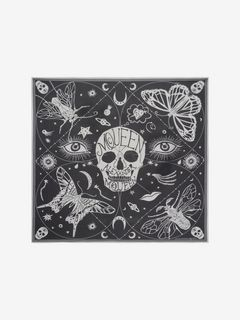 Foulard Skull Zodiac in Chiffon di Seta