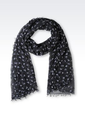 Armani Scarves Women scarf in logoed fabric