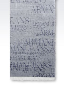 Armani Scarves Men scarf in wool and modal