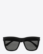 new wave SL 137 devon sunglasses in shiny black acetate with grey lenses