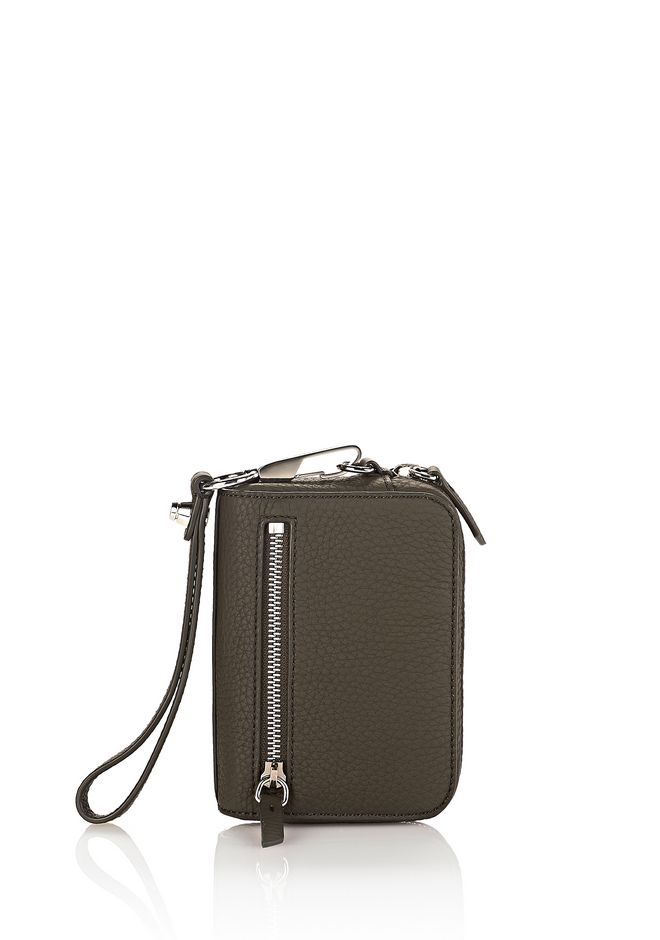 ALEXANDER WANG accessories LARGE FUMO IN MATTE GRASS WITH RHODIUM