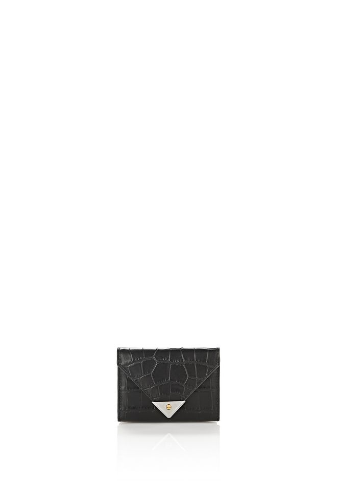 ALEXANDER WANG Wallets Women EXCLUSIVE CROC EMBOSSED PRISMA ENVELOPE COMPACT