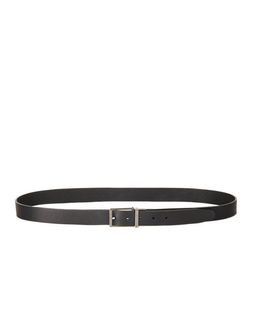 lanvin two leather reversible belt men