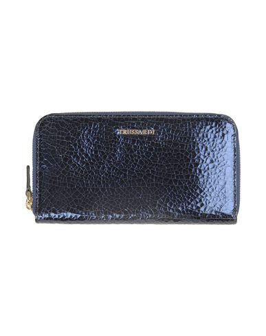 TRUSSARDI レディース 財布 ブルー なめし革