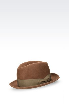 Armani Hats Men classic hat in felt