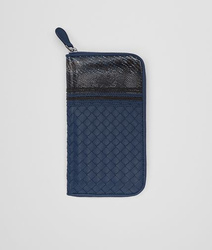 ZIP AROUND WALLET IN PACIFIC INTRECCIATO NAPPA AND PACIFIC KARUNG WITH NAPPA DETAILS