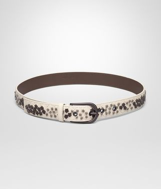 BELT IN MIST EMBROIDERED INTRECCIATO NAPPA