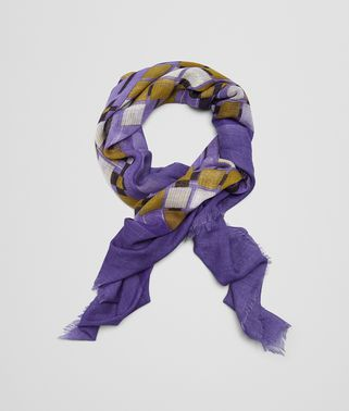 SCARF IN LILAC LIGHT GREEN CASHMERE SILK