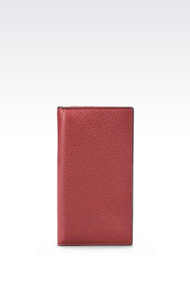 Armani Wallets Men wallet in tumbled calfskin