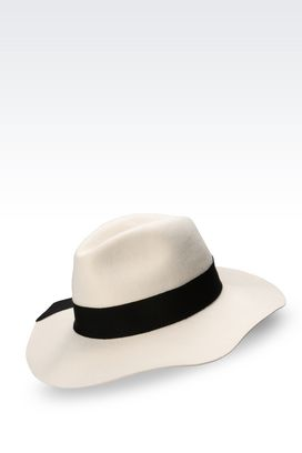 Armani Hats Men wide-brimmed hat in felt