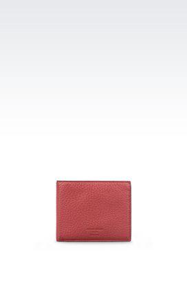 Armani Wallets Men wallet in tumbled calfskin