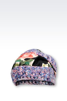 Armani Hats Women hat in wool and silk