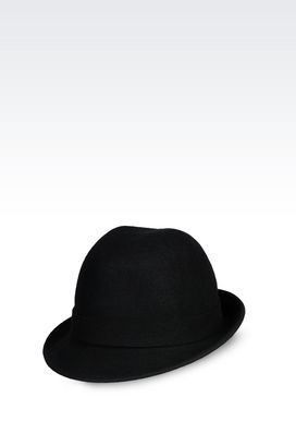 Armani Hats Women classic hat in felt