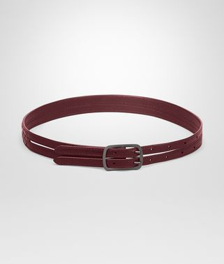 BELT IN BAROLO INTRECCIATO CALF LEATHER