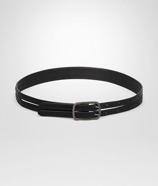 BELT IN NERO INTRECCIATO CALF LEATHER
