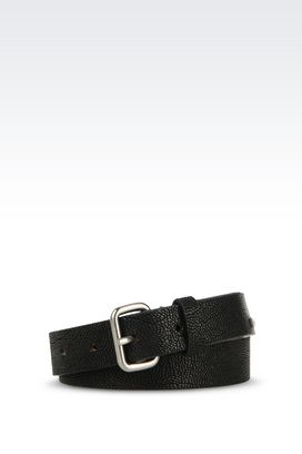 Armani Leather belts Men calfskin belt