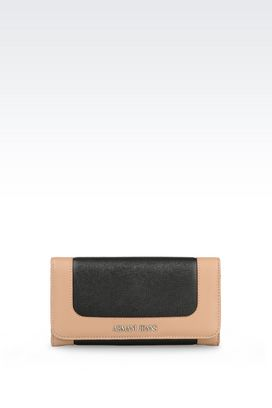 Armani Wallets Women button wallet in saffiano print