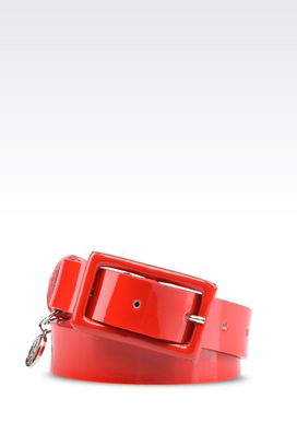 Armani Ledergürtel Für sie gürtel aus lackleder
