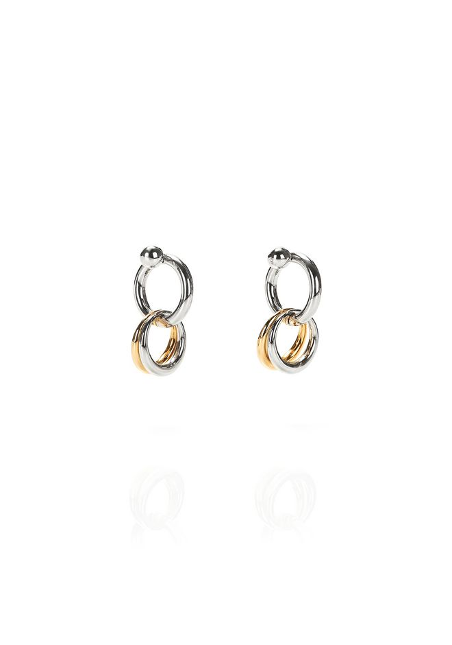 ALEXANDER WANG new-arrivals MIXED RHODIUM AND YELLOW GOLD LINKS EARRINGS