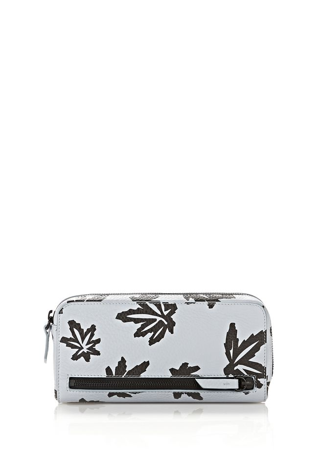 ALEXANDER WANG Wallets Women FUMO CONTINENTAL WALLET IN LEAF PRINTED PALE BLUE