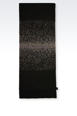 Armani Scarves Men scarf in wool blend