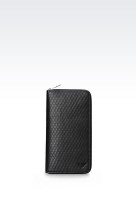 Armani Wallets Men zip-around wallet with logo