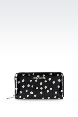 Armani Wallets Women polka dot zip-around wallet