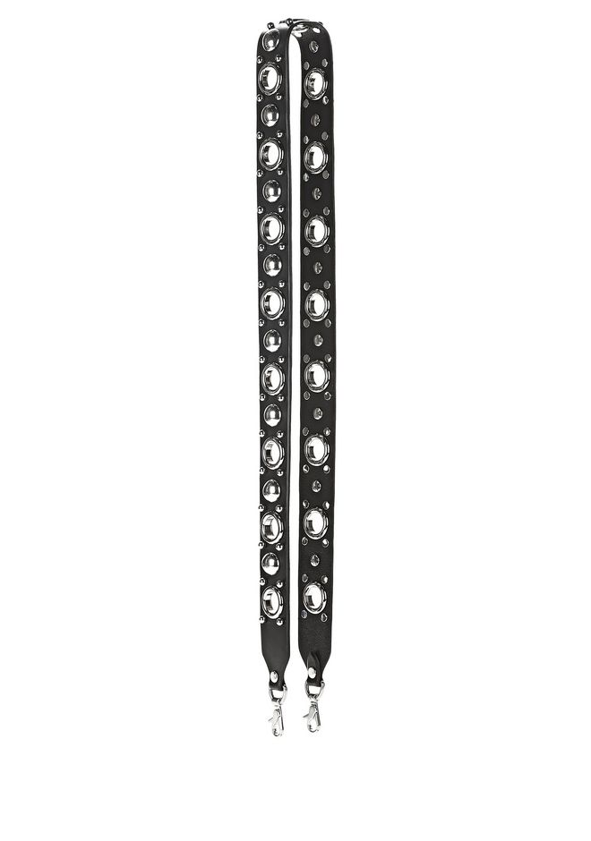 ALEXANDER WANG accessories ATTICA STUD EMBELLISHED STRAP WITH RHODIUM