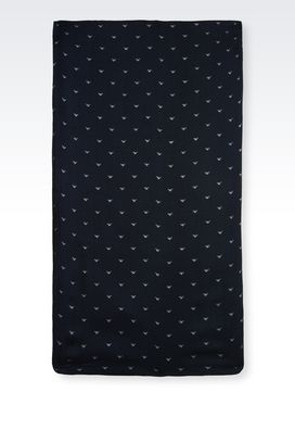 Armani Collars Men scarf in branded fabric