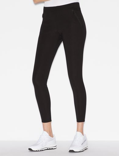 아르마니 익스체인지 Armani Exchange SKINNY PONTE ZIP LEGGING,Black