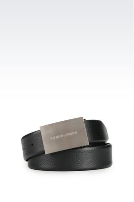 Armani Belts Men adjustable belt in calfskin