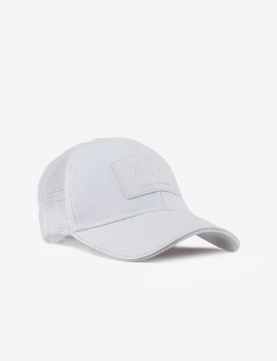 FAUX-LEATHER LOGO PATCH HAT