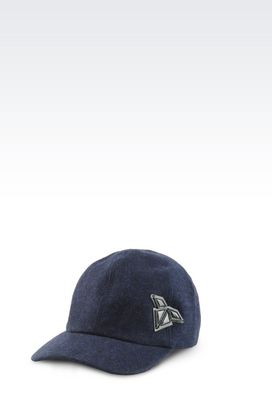 Armani Caps Men runway baseball cap in viscose