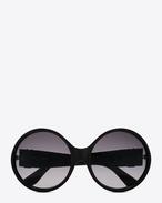 monogram 1 sunglasses in shiny black and matte black acetate with grey gradient lenses
