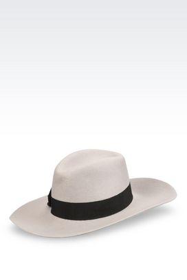 Armani Hats Women classic hat in felt