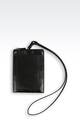 Armani iPhone case Men mobile phone case in grained calfskin