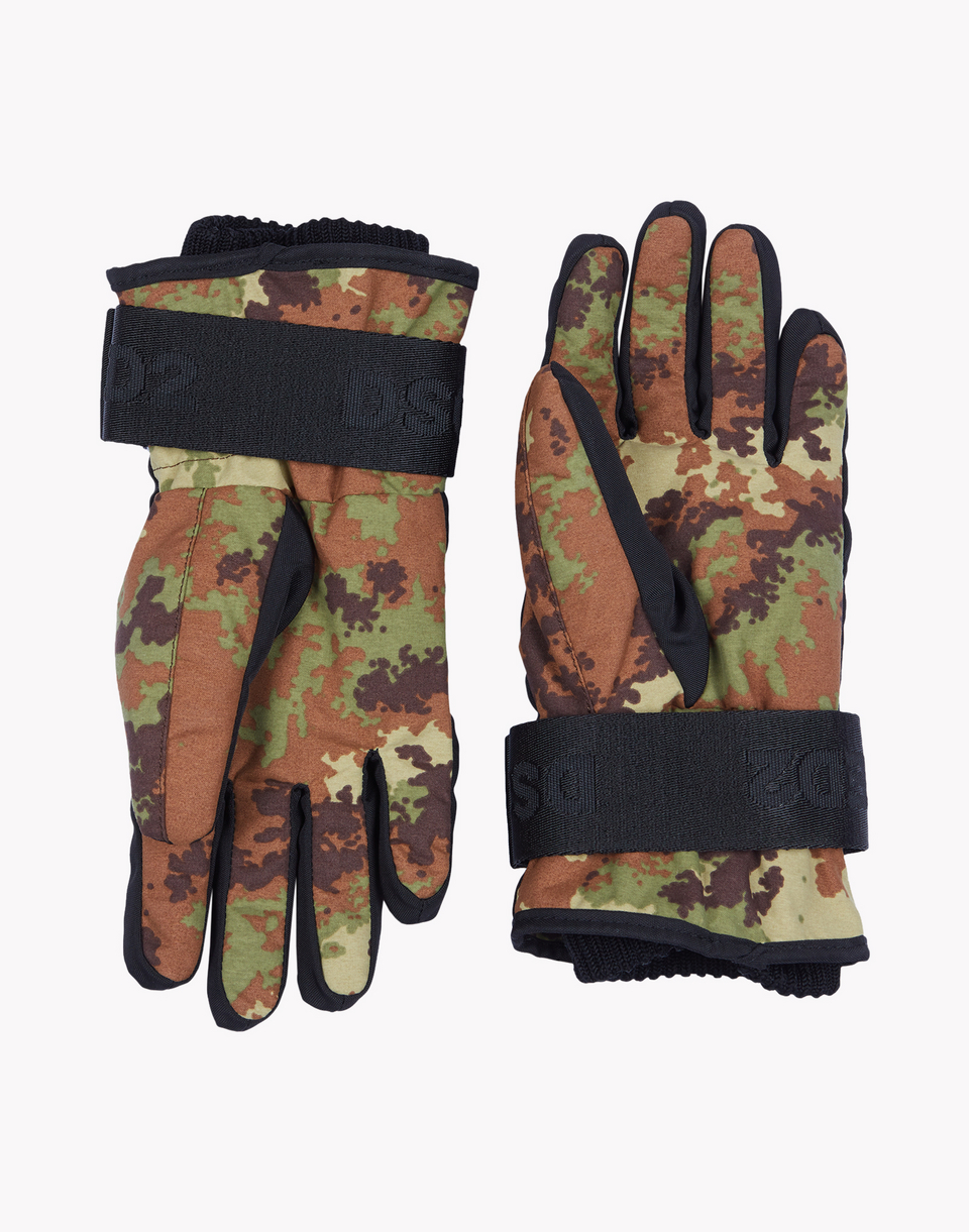 camouflage technical ski gloves other accessories Woman Dsquared2