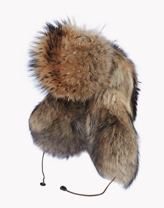 iconic racoon fur hat altri accessori Uomo Dsquared2